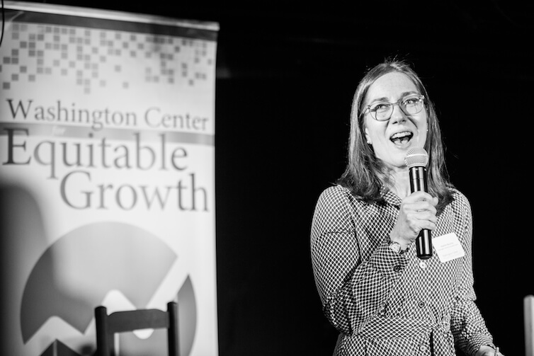 Washington Center for Equitable Growth Executive Director and Chief Economist Heather Boushey kicks off the evening's programming.